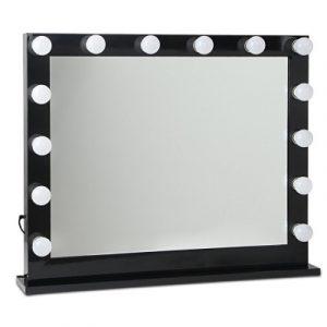 Embellir Make Up Mirror with LED Lights - Black 65 x 80cm MM-FRAME-6580-BK