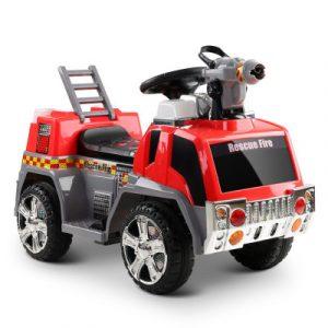 Rigo Kids Ride On Fire Truck Motorbike Motorcycle Car Red Grey RCAR-FIRETRUCK-RDGY