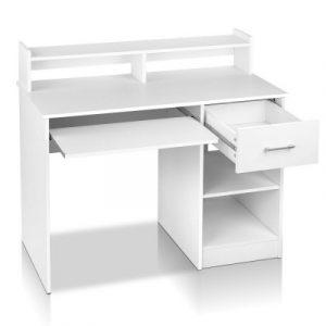 Artiss Office Computer Desk with Storage - White FURNI-C-DESK-JUNI-WH-AB