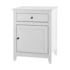 Artiss Bedside Tables Big Storage Drawers Cabinet Nightstand Lamp Chest White FURNI-G-SCAN02-BS-WH