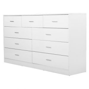 Artiss 9 Chest of Drawers Cabinet Dresser Table Lowboy Storage Bedroom FURNI-L-LBOY-01-WH-ABC