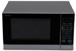 Sharp R30A0S 900W Midsize Microwave Oven - Silver