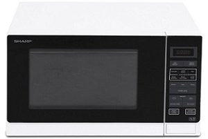 Sharp R30A0W 900W Midsize Microwave Oven - White