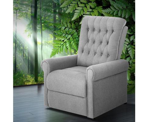 Artiss Massage Recliner Chair Electric Armchair 8 Point Heated Grey RECLINER-A7-LIN-GY-AB