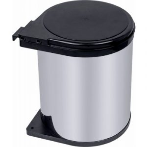 Kitchen 14L Swing Pull Out Bin Stainless Steel Garbage Rubbish Waste Trash Can V63-833611