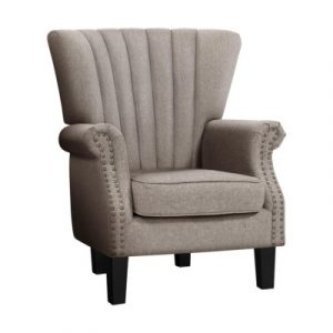 Artiss Armchair Lounge Chair Accent Chairs Armchairs Fabric Single Sofa Beige UPHO-C-EMPO-TA