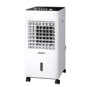Devanti Evaporative Air Cooler Conditioner Portable 6L Cooling Fan Humidifier EAC-C-BT-18J-WH