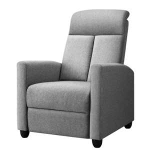 Artiss Recliner Chair Luxury Lounge Sofa Single Armchair Padded Accent Chairs RECLINER-A9-LIN-GY